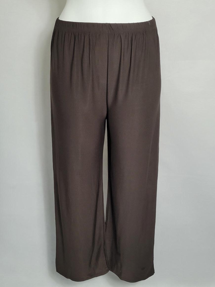 Pantalon large mode femme ronde taille élastique